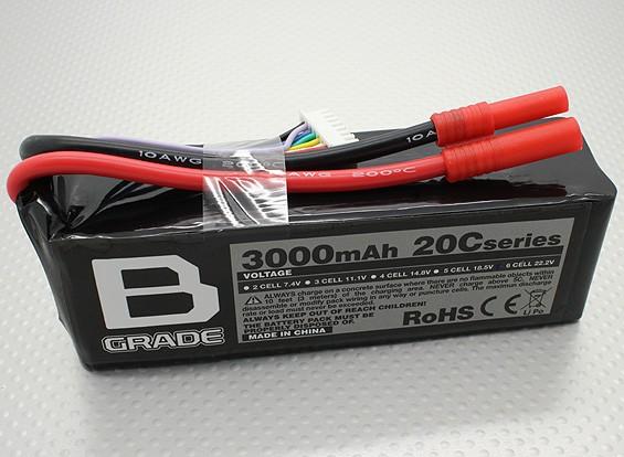 Bateria B-Grade 3000mAh 6S 20C Lipoly