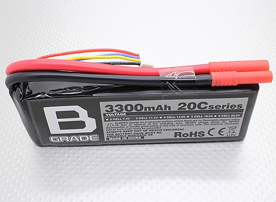 Bateria B-Grade 3300mAh 3S 20C Lipoly