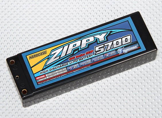 ZIPPY 5700mah 2S2P 50C Hardcase pacote