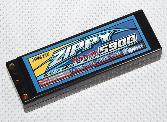 ZIPPY 5900mah 2S2P 60C Hardcase pacote