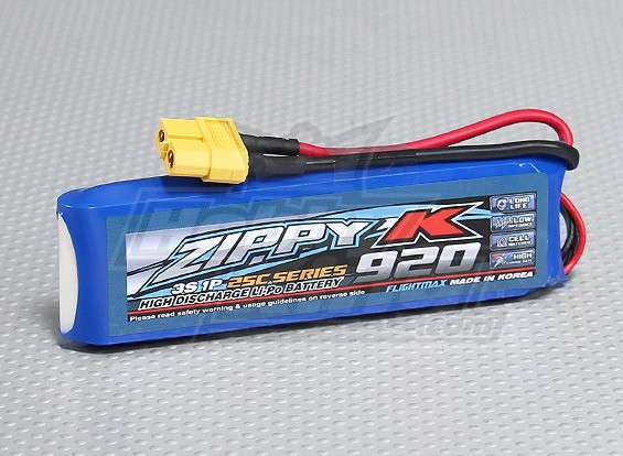 Bateria Zippy-K Flightmax 920mAh 3S1P 25C Lipoly