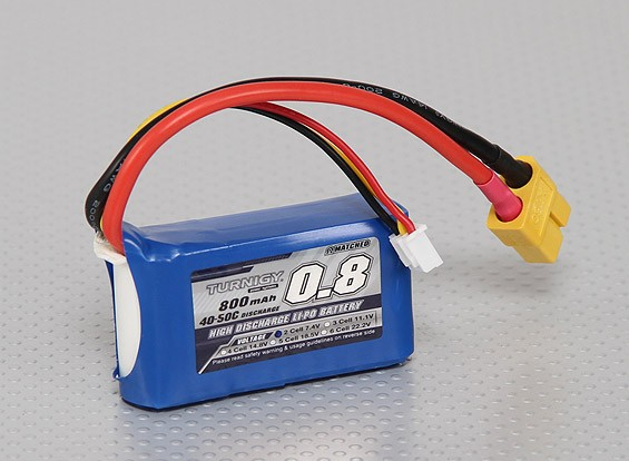 Turnigy 800mAh 2S 40C Lipo pacote