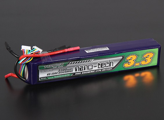 Turnigy nano-tecnologia 3300mAh 10S 65 ~ 130C Lipo pacote