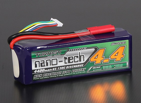 Turnigy nano-tecnologia 4400mAh 5S 65 ~ 130C Lipo pacote