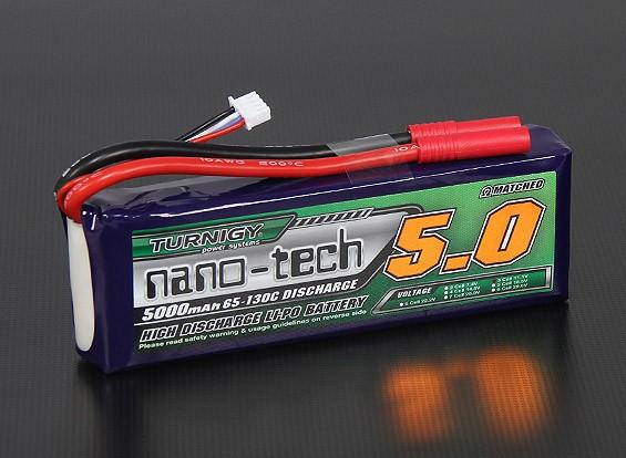 Turnigy nano-tecnologia 5000mAh 3S 65 ~ 130C Lipo pacote