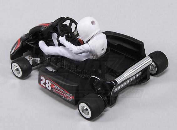 Turnigy F1 1/18 Mini Go-Kart w / Frame Fibra de Carbono (versão KIT w / servo)
