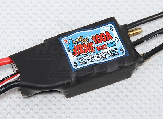 Birdie 100A Brushless Boat ESC w / 5A BEC