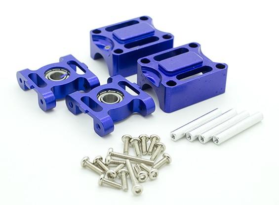 CNC metal Upgrades para HK-450, blocos de apoio / Tailboom Bloco de Montagem (roxo escuro)