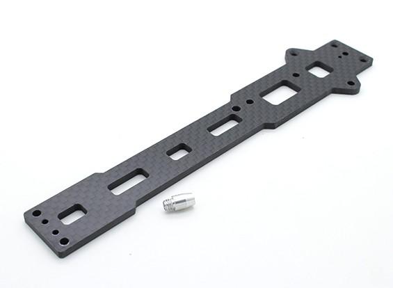 Chassis superior Plate (fibra de carbono) w / hardware - A2003T, 110BS e A2010
