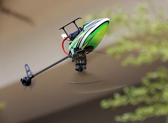 Helicóptero de assalto 100 Flybarless dupla Brushless Micro 3D w / Módulo RF (Radio Ready)