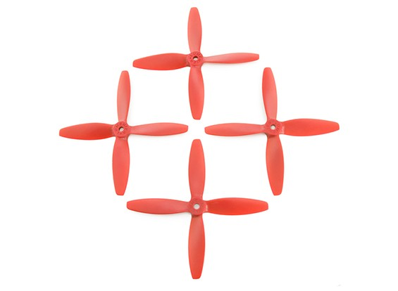 Lumenier FPV Corrida Hélices 5040 4-Blade Red (CW / CCW) (2 pares)