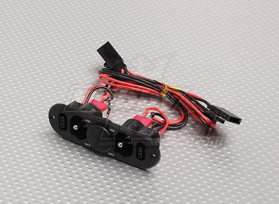 Pesado Chave Dever RX Twin com carga Porto & Fuel Dot em branco