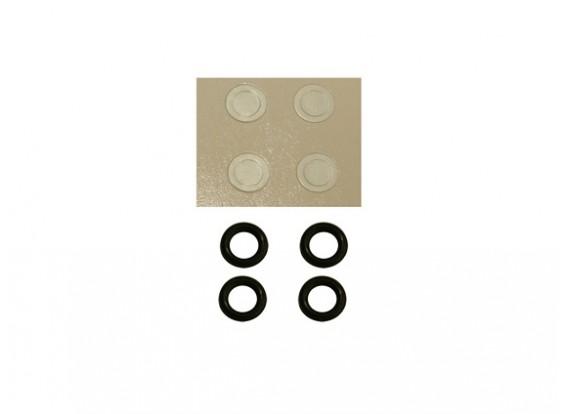 Gaui 100 & 200 Tamanho O-Ring Dureza-50 e Papel máquina de lavar para 3 milímetros rotor principal eixo (203.847)