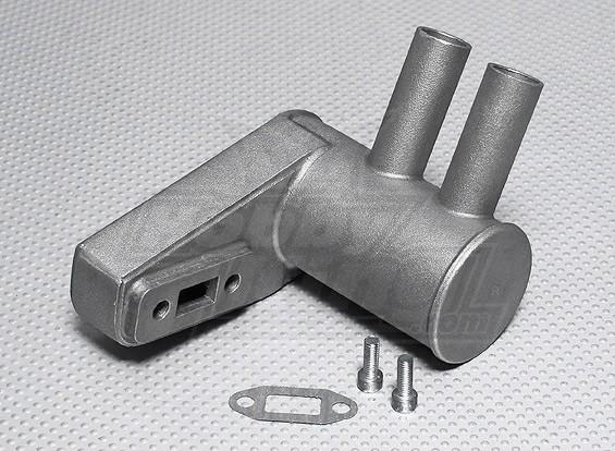 Pitts silencioso para motor a gasolina 20cc