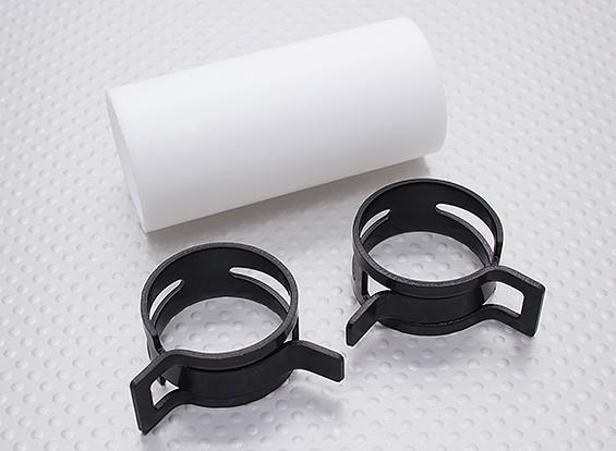 Engate Teflon com clipes (28 mm Pipe) para silencioso