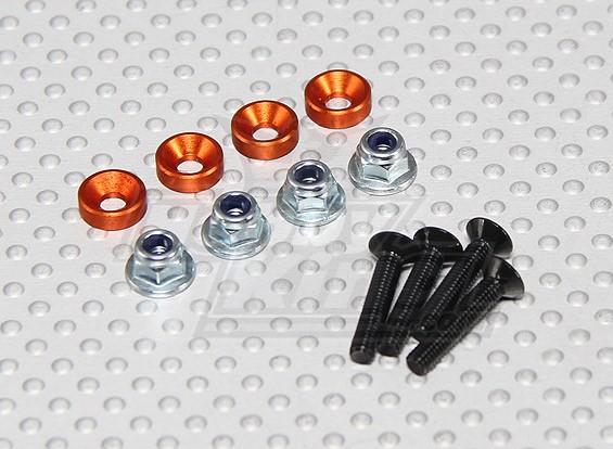 Cor Servo de montagem Screw Set (laranja)