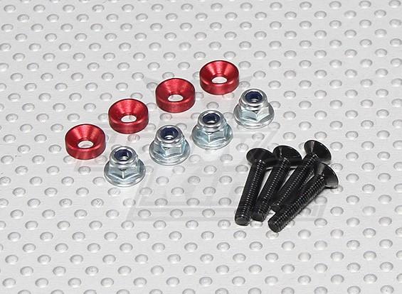 Cor Servo de montagem Screw Set (vermelho)