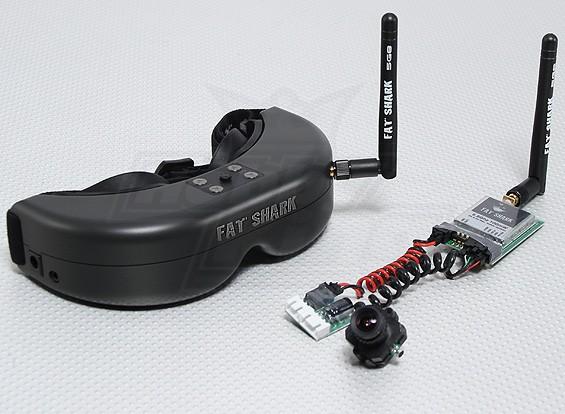 Tubarão Predator Fat RTF FPV Headset Sistema w / Câmera e 5.8G TX