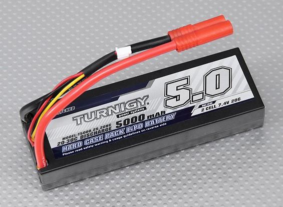 Turnigy 5000mAh 2S1P 20C hardcase pacote (ROAR aprovado) (DE Warehouse)