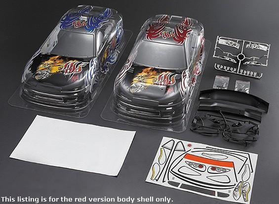 1/10 S15 Car Shell corpo w / Gráficos pré-impressos (190 milímetros) - versão vermelha