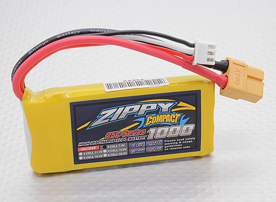 ZIPPY Compact 1000mAh 2S 25C Lipo pacote