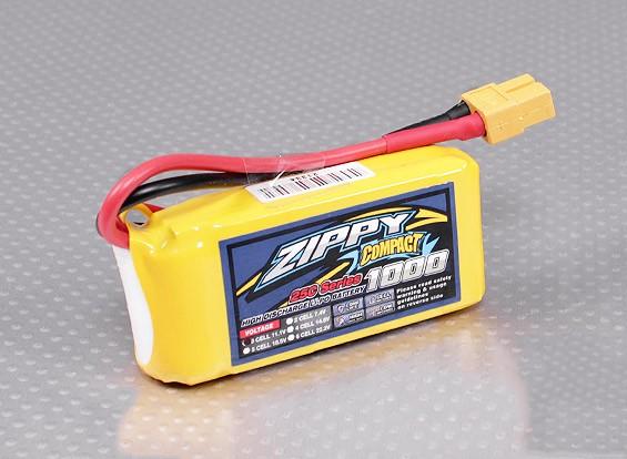 ZIPPY Compact 1000mAh 3S 25C Lipo pacote