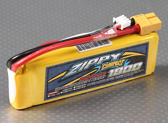 ZIPPY Compact 1800mAh 2S 25C Lipo pacote