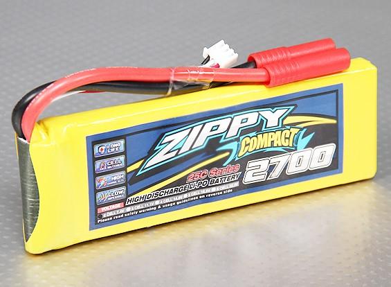 ZIPPY Compact 2700mAh 2S 25C Lipo pacote