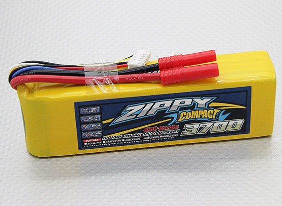 ZIPPY Compact 3700mAh 5S 25C Lipo pacote