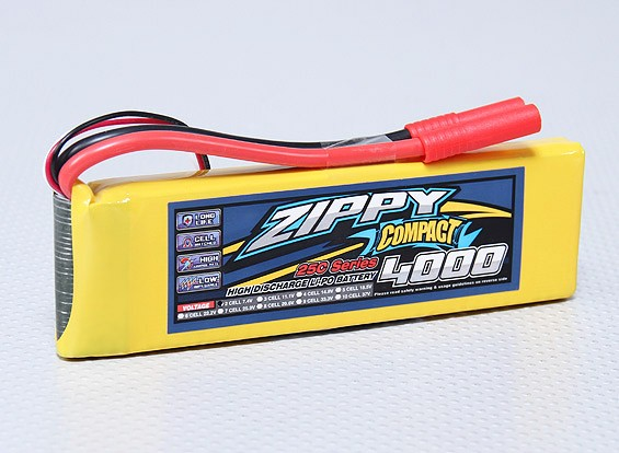 ZIPPY Compact 4000mAh 2S 25C Lipo pacote