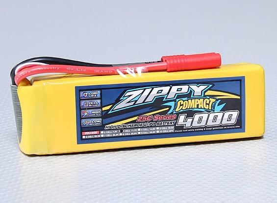 ZIPPY Compact 4000mAh 3S 25C Lipo pacote