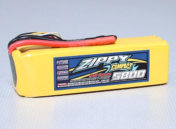 ZIPPY Compact 5800mAh 5S 25C Lipo pacote