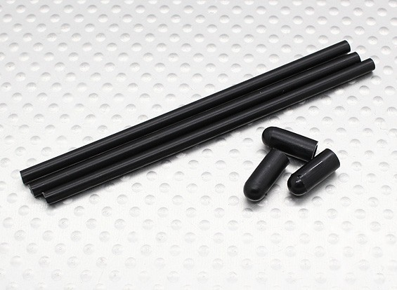 Antena Tubo w / cap (3pcs / saco) - Turnigy Trailblazer 1/8, XB e XT 1/5