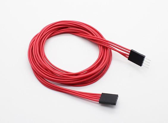 1000 milímetros de 4 pinos cabo de extensão de LED RGB Multi-Function driver / controlador