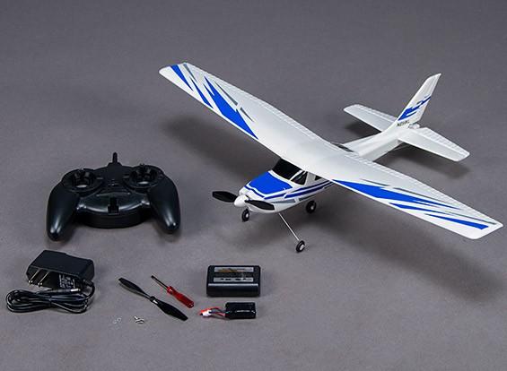 Micro 182 avião leve de 550 milímetros w / rádio de 2,4 GHz (Modo 2) carregador, Lipo (RTF)