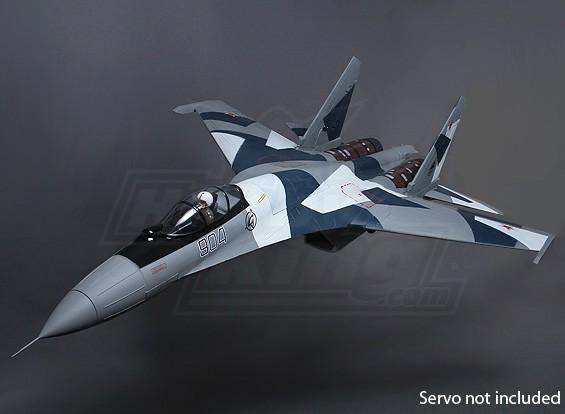 Sukhoi SU-35 gêmeo 70 milímetros Super Scale EDF Jet w / Thrust Vectoring 1.080 milímetros (ARF)