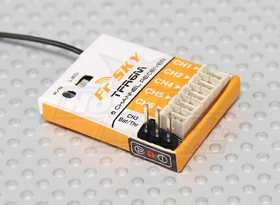 FrSky TFR6M 2.4Ghz 6CH Micro Receptor FASST Compatível