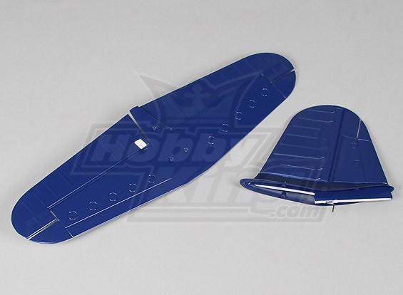 Passatempo Rei F4U Plug-n-Fly - conjunto de substituição da cauda