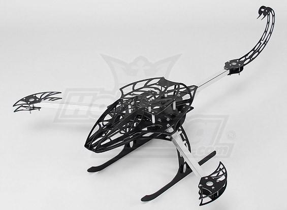 Hobbyking Y650 Scorpion fibra de vidro Multi-Rotor 650 milímetros Moldura