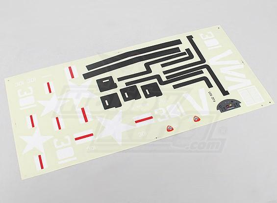 Durafly ™ 1,100 milímetros F4U Cosair - Folha da etiqueta