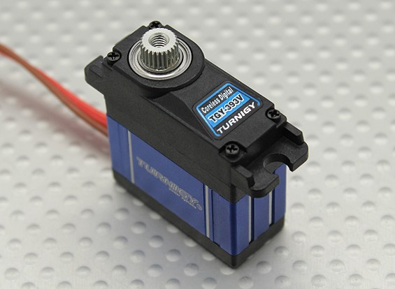 Turnigy ™ TGY-393V Coreless HV / BB / MG Servo w / dissipador de calor 4,3 kg / 0.10sec / 22,5 g