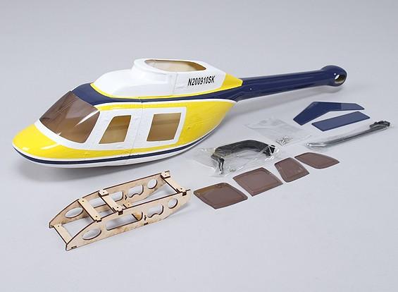 Bell 206 Fiberglass Fuselagem de 450 tamanho heli