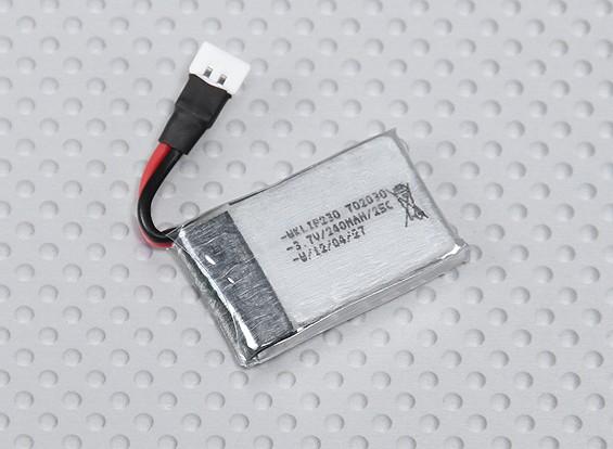 Walkera 240mAh 1S 25C Lipoly Bateria (Fits QR Ladybird / Genius CP / Mini CP)