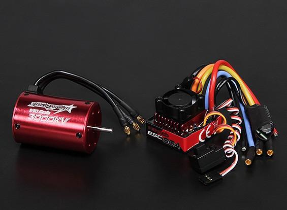 Turnigy TrackStar impermeável 1/10 Brushless Power System 3000KV / 80A