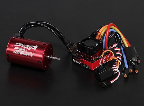Turnigy TrackStar impermeável 1/10 Brushless Power System 4250KV / 80A