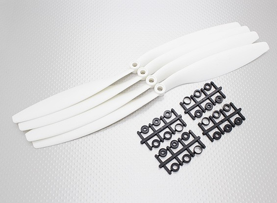 Turnigy ™ Slowfly Hélice 12x4.5 White (CCW) (4pcs)