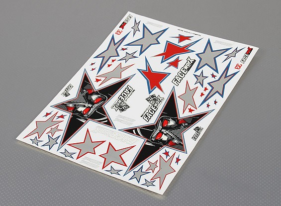 Folha de Auto-adesivo Decal - Evil Black Star 1/10 Scale