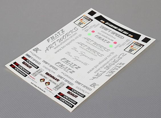 Folha de Auto-adesivo Decal - Saito Daigo FD 1/10 Scale