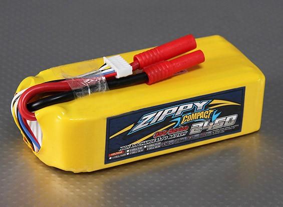 ZIPPY Compact 2450mAh 6S 35C Lipo pacote