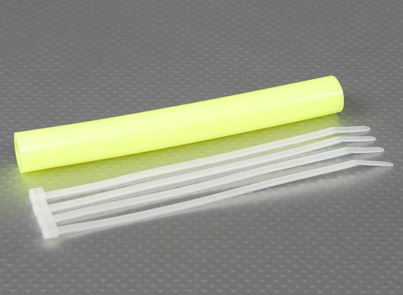 Exhaust Silicone acoplador Tubing 152x12mm (amarelo)